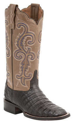 Lucchese ANNALYN M4942 Womens Cafe Caiman Crocodile Belly Color Top Boots