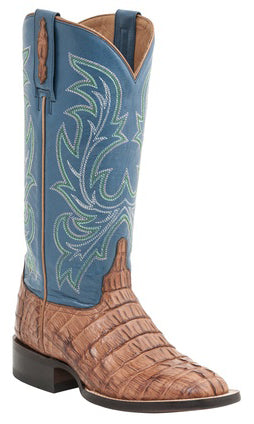 Lucchese M4945 Womens Whiskey Hornback Caiman Crocodile Tail Boots