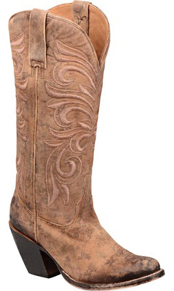 Lucchese M4951 Laurelie Womens Brown Floral Printed Fashion Boots