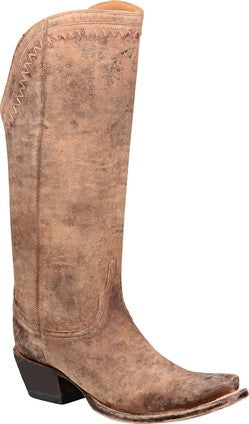 Lucchese VERA M4952 Womens Vera Brown Floral Printed Tall Boots
