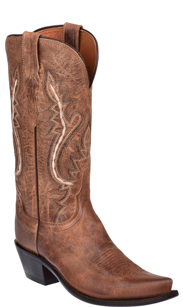 Lucchese CASSIDY M4999.S54 Womens Tan Mad Dog Goat Boots