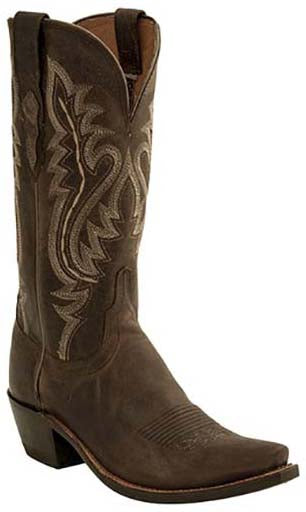 Lucchese CASSIDY M5002.S54 Womens Chocolate Madras Goat Boots Size 10.5 C STALL STOCK