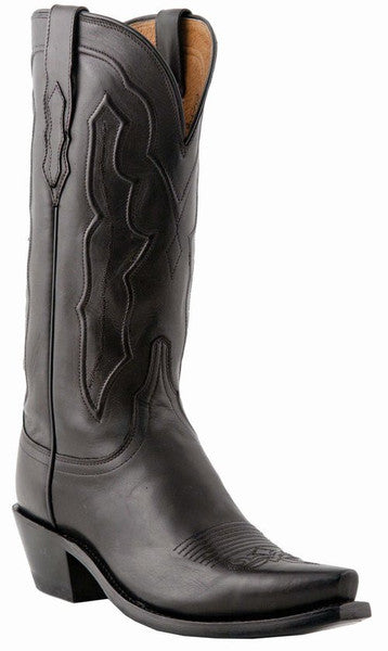 Lucchese M5006.S54 GRACE Womens Black Ranch Hand Calfskin Boots