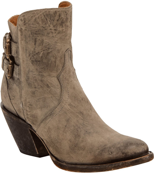 Lucchese CATALINA M5047 Womens Stonewashed Grey Calfskin Boots
