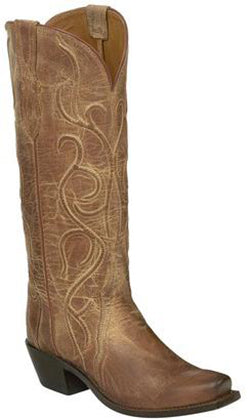 Lucchese PATSY M5109.74 Womens Tan Corded Mad Dog Goat Boots
