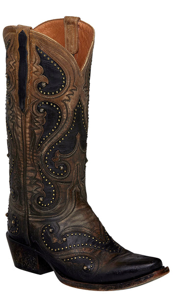 Lucchese GEMMA M5115.S54 Womens Ombre Pearl Bone Mad Dog Goat Boots