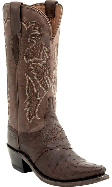Lucchese AUGUSTA M5601.S54 Womens Sienna Brown Full Quill Ostrich Boots