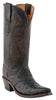 Lucchese M5602.S54 Womens Black Full Quill Ostrich Boots