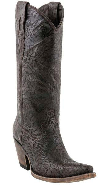 Lucchese M5710.S53F Womens Alpina Cafe With Andrea Design Calf Boots