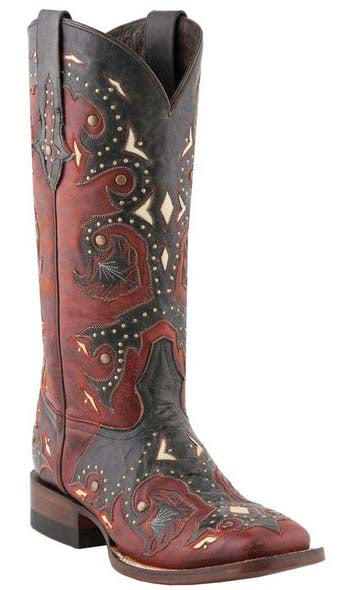 Lucchese M5810.TWF Womens Studded Oklahoma Boots