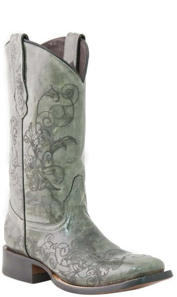 Lucchese M5815.TWF Womens Laser Etched Calfskin Boots