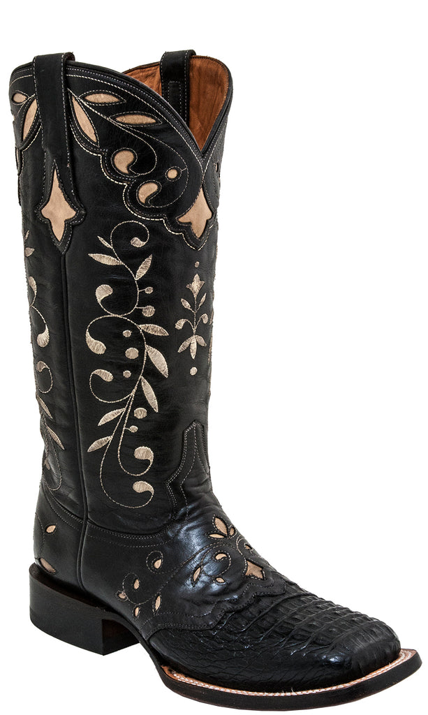 Lucchese SHERILYN M5827.WF Womens Black Hornback Caiman Crocodile Boots