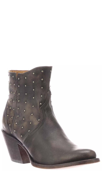 Lucchese HARLEY M6003 Womens Black Calfskin Boots