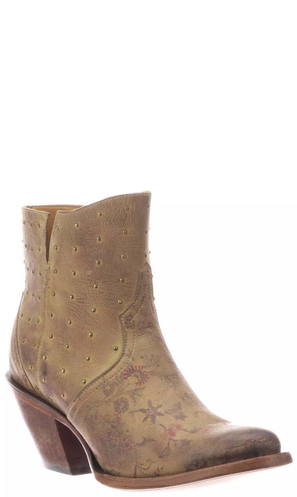 Lucchese HARLEY M6004 Womens Tan Calfskin Boots Size 8 B STALL STOCK