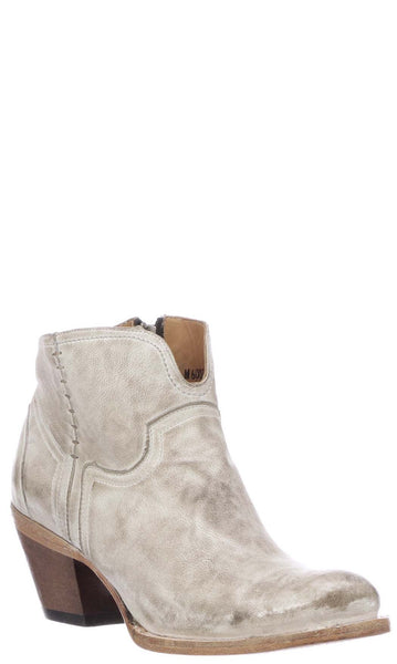 Lucchese ERICKA M6007 Womens White Distressed Calfskin Boots