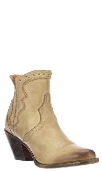 Lucchese KARLA M6011 Womens Bone Distressed Calfskin Boots Size 8.5 B STALL STOCK