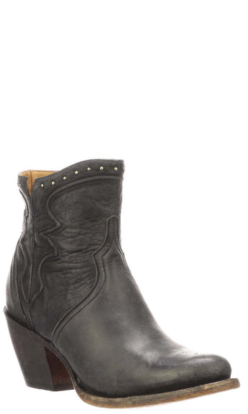 Lucchese KARLA M6012 Womens Black Distressed Calfskin Boots