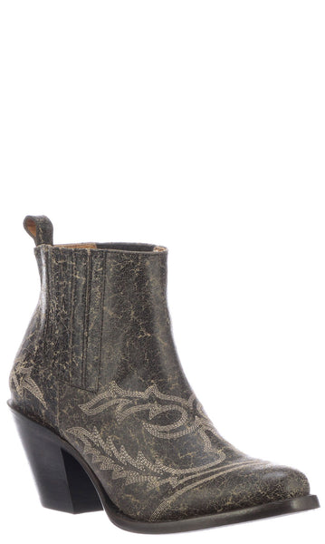 Lucchese ROGUE M6021 Womens Anthracite Grey Calfskin Boots