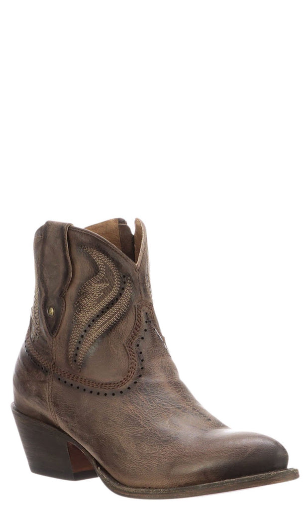 Lucchese SABINE M6039 Womens Distressed Brown Calfskin Boots