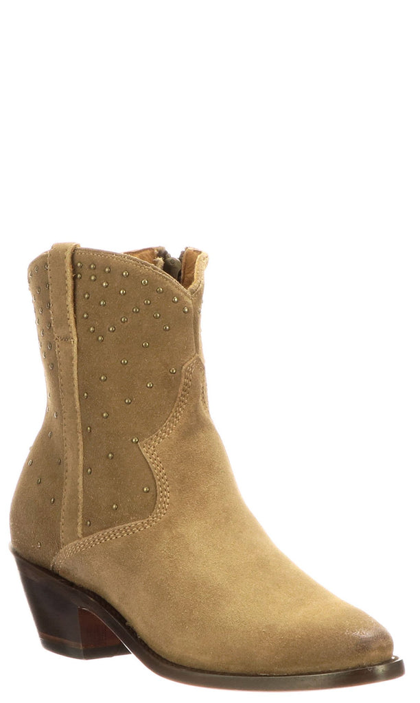 Lucchese AVIE STUD M6042 Womens Tan Suede Boots