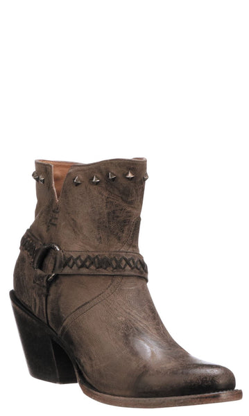 Lucchese ANI M6049 Womens Anthracite Calfskin Boots