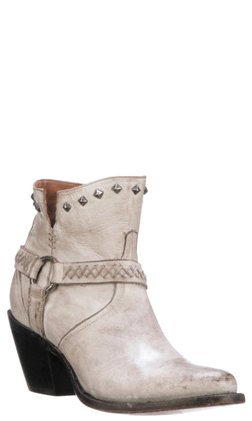 Lucchese ANI M6050 Womens Distressed White Calfskin Boots