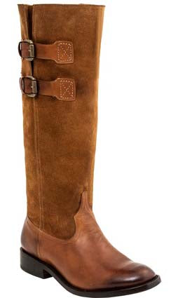 Lucchese PAIGE M8500 Womens Camel and Light Tan Suede Tall Riding Boots