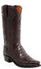 Lucchese N1141.R4 DOUGLAS Mens Black Cherry Belly Caimain Crocodile Tail Boots