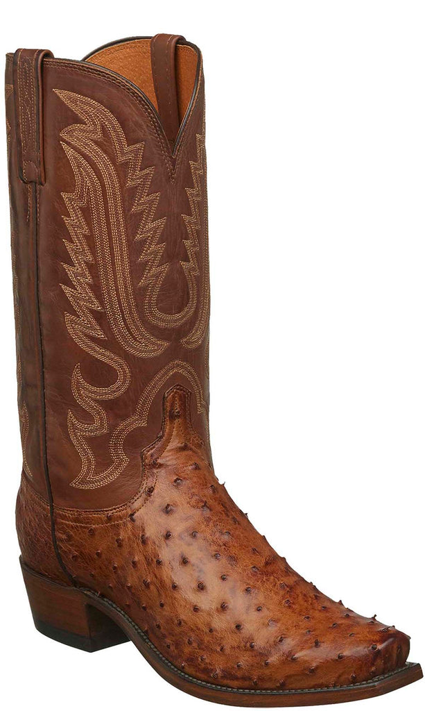 Pay With Visa Sale Online Clearance With Mastercard Lucchese Bootmaker Luke R Toe Cowboy Boot(Men's) -Black Full Quill Ostrich nFXq8e4D0a