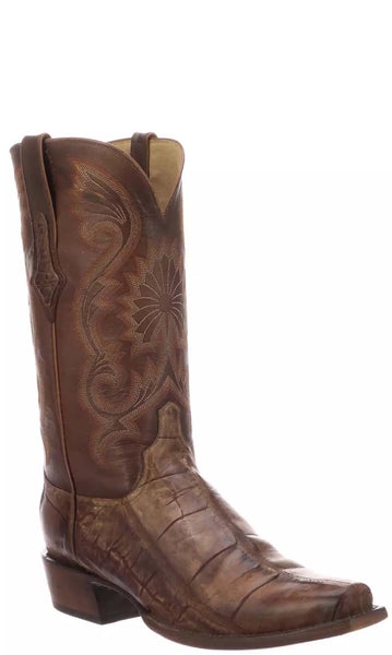 Lucchese RIO N1184 Mens Antique Brown Giant American Alligator Boots