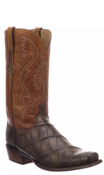 Lucchese RIO N1185 Mens Antique Chocolate Giant American Alligator Boots