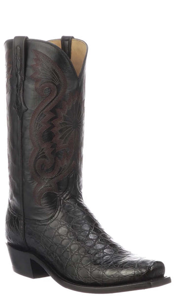Lucchese RIO N1198.73 Mens Black Giant American Alligator Boots