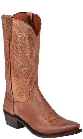 Lucchese Crayton N1547 Mens Tan Burnished Mad Dog Goat Boots
