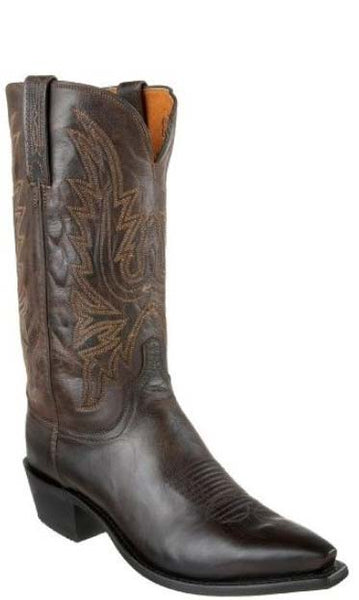 Lucchese Corbin N1556.54 Mens Chocolate Burnished Mad Dog Goat