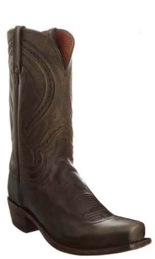 Lucchese Corbin N1556.74 Mens Chocolate Burnished Mad Dog Goat Boots
