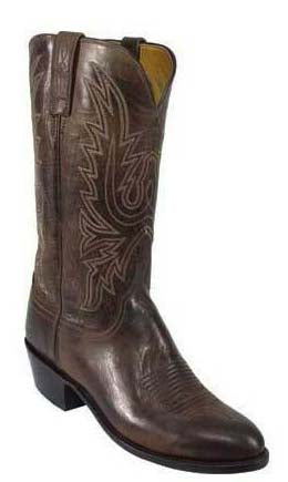 Lucchese Corbin N1556.R4 Mens Chocolate Burnished Mad Dog Goat Boots