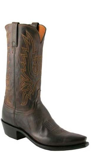 Lucchese Corbin N1556 Mens Chocolate Burnished Mad Dog Goat Boots