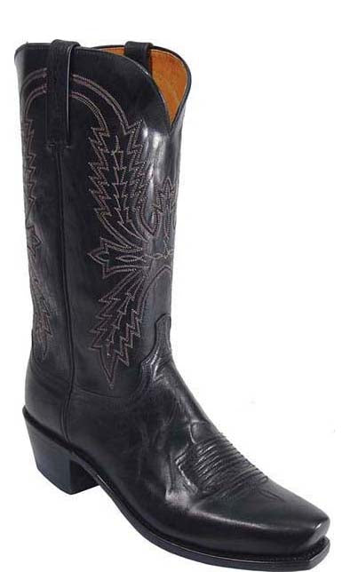 DISCONTINUED-Lucchese Crayton N1560 Mens Black Burnished Mad Dog Goat Boots