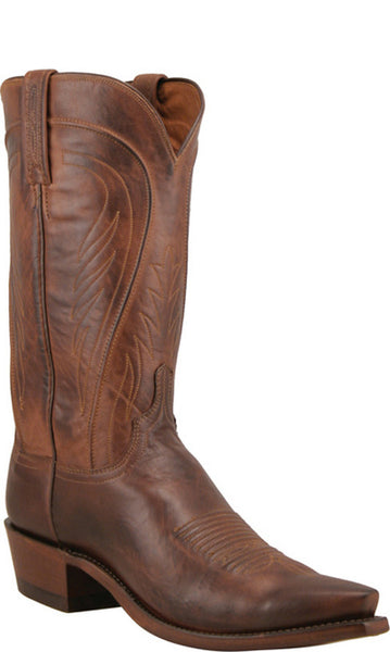 Lucchese Bart Mens Tan Burnished Ranch Hand Calfskin Boots N1596.54 5 Toe