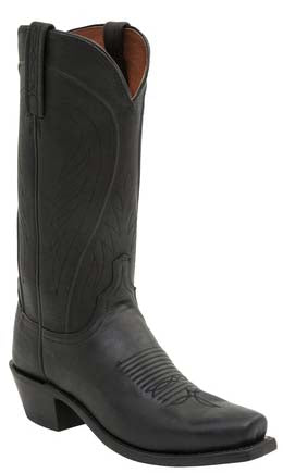 Lucchese Bart N1597.74 Mens Black Burnished Ranch Hand Calfskin Boots Size 11.5 D STALL STOCK
