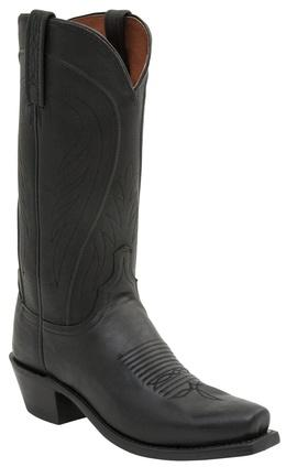Lucchese Bart N1597.74 Mens Black Burnished Ranch Hand Calfskin Boots