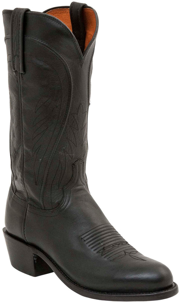 Lucchese N1597.R4 Bart Mens Black Burnished Ranch Hand Boots