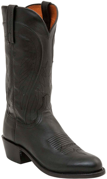 Lucchese Bart N1597.R4 Mens Black Burnished Ranch Hand Boots