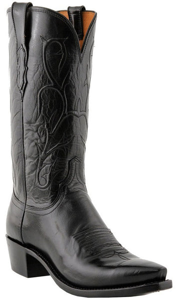 Lucchese N1652 Mens Black Buffalo Boots