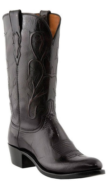 Lucchese N1653 Mens Black Cherry Buffalo Boots