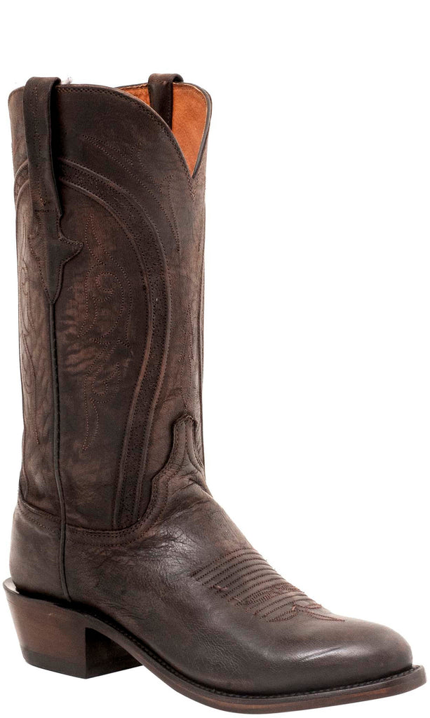 Lucchese CLINT N1655.73 Mens Chocolate Brown Mad Dog Goat Boots Size 10 D STALL STOCK