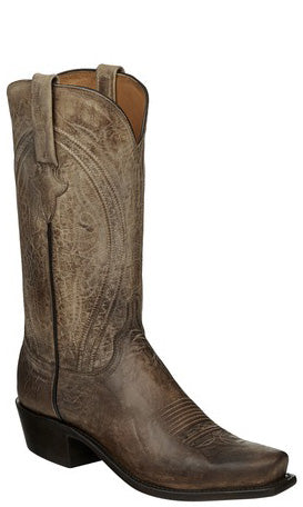 Lucchese N1656.R4 CLINT Mens Pearl Bone Mad Dog Goat Boots