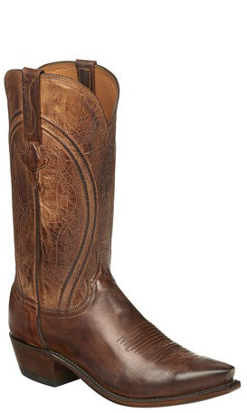 Lucchese N1657.R4 CLINT Mens Peanut Brittle Mad Dog Goat Boots Size 11.5 D STALL STOCK