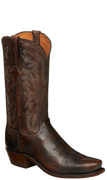 Lucchese MILO N1662 Mens Pearwood Tan Goat Boots