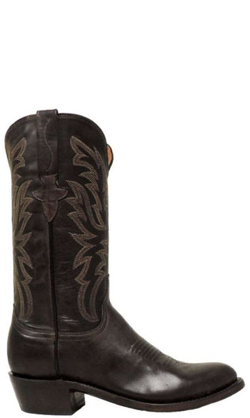 Lucchese MILO N1663 Mens Dark Brown Goat Boots